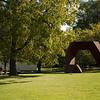 Buffalo State students walking across Albright-Knox Art Gallery lawn.