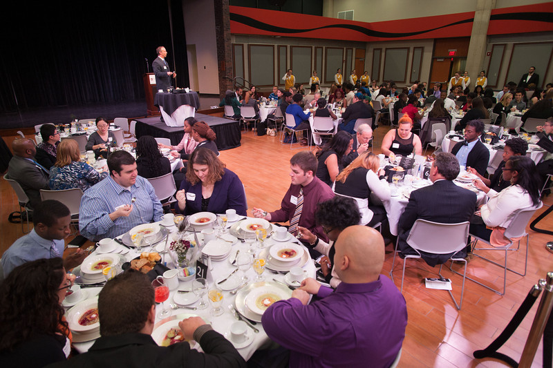 Manners Matter etiquette dinner at SUNY Buffalo State.