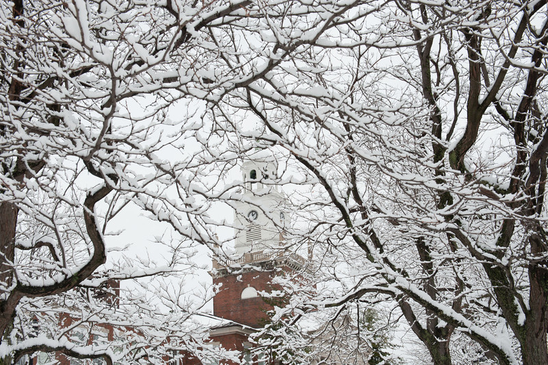 Winter campus scenics at SUNY Buffalo State.