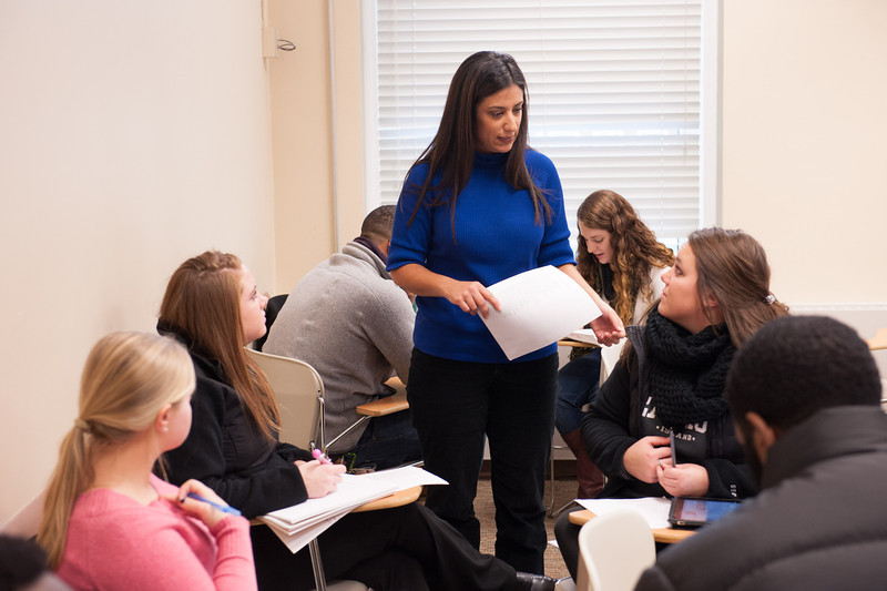Dr. Adrienne Costello's English class at SUNY Buffalo State.