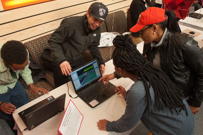 Computer Science Education Week activity at SUNY Buffalo State.