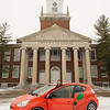 Buffalo State CarShare vehicle in front of Rockwell Hall.
