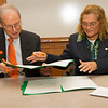 Signing ceremony for memorandum of understanding between University of Quintana Roo and SUNY Buffalo State.