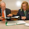 Signing ceremony for memorandum of understanding between University of Quintana Roo and SUNY Buffalo State.