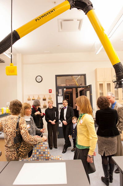 Ribbon cutting event unveiling  Art Conservation renovations.