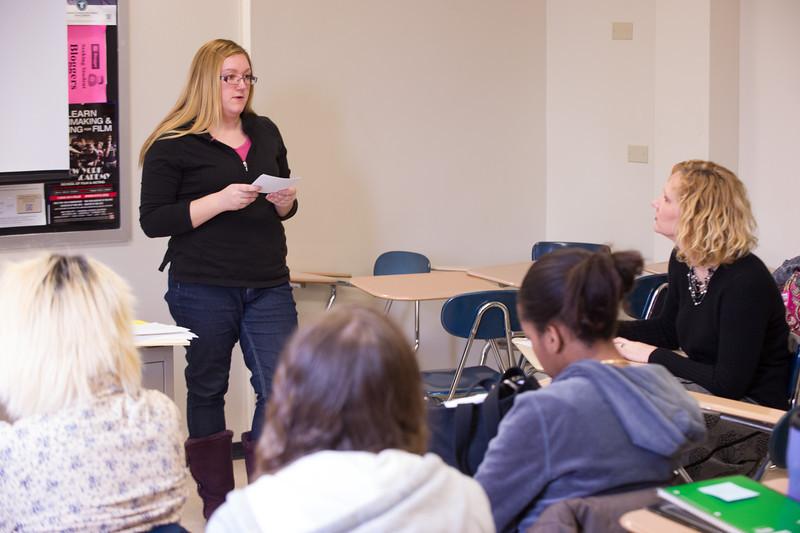 Dr. Pamela Schuetze-Pizzaro's psychology class at Buffalo State.