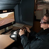 Dr. Dwight Hennessy's impaired driving lab in the Buffalo State Psychology Department.