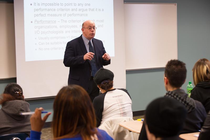Dr. Robert Delprino's psychology class at Buffalo State.