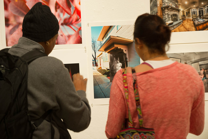 Fine Arts Student Show opening and awards ceremony.