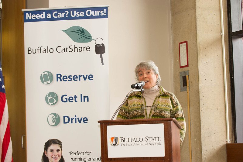 Kickoff of Buffalo Car Share at Buffalo State.