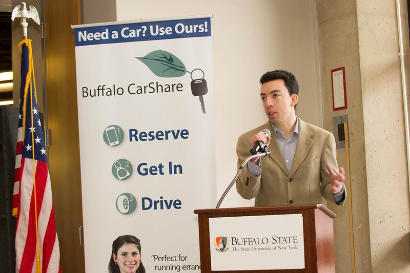 Kickoff of Buffalo Car Share at Buffalo State.