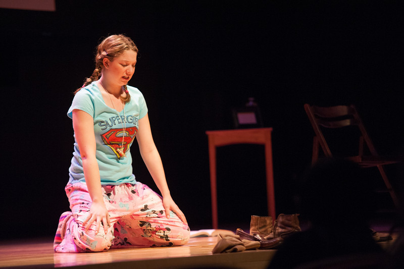 Student theater production of Nine Parts of Desire.