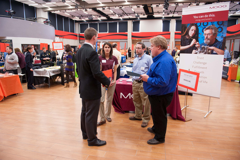 Career Development Center Job Fair at Buffalo State.
