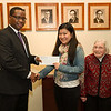 Awards ceremony for the Francis Tyau and Eleanor Blackburn scholarships.