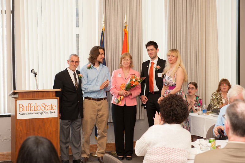 Paul T. Orrange Awards ceremony with Buffalo State honors students.