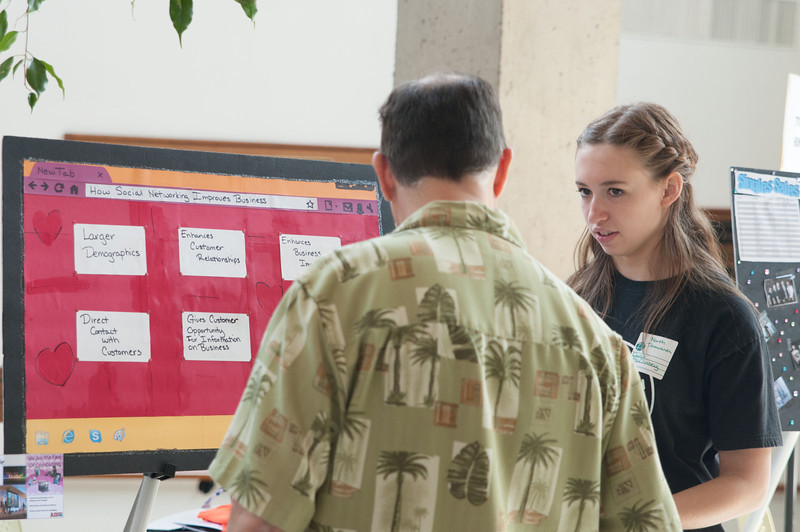 IT4HS student poster presentations, demonstrations and competition at Buffalo State.