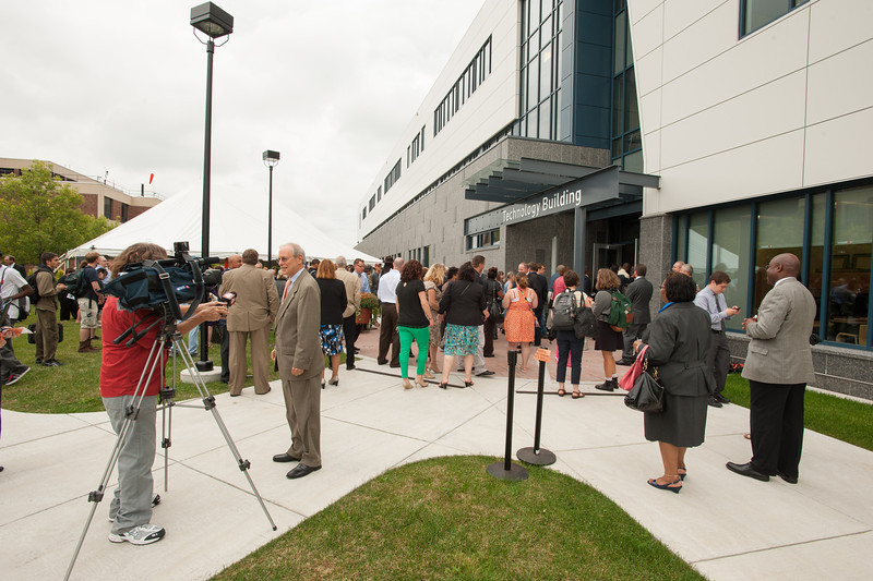 New Technology Building ribbon cutting and tours at Buffalo State.