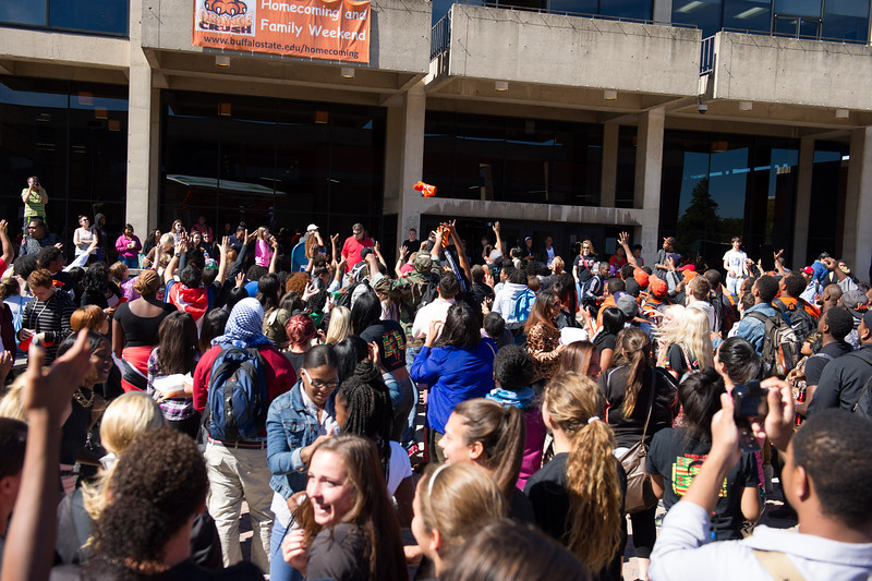 Buffalo State's 2013 Homecoming Pep Rally.