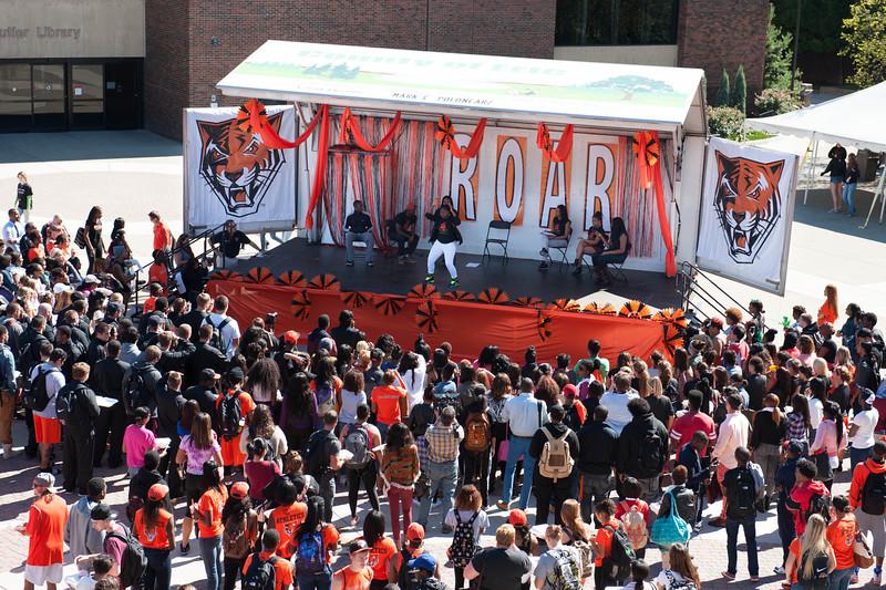 Buffalo State's 2013 Homecoming Pep Rally.