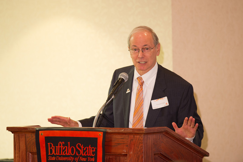 Buffalo State President Howard Cohen speaking at the Professional Development Schools Consortium (PDS) Fall Retreat.