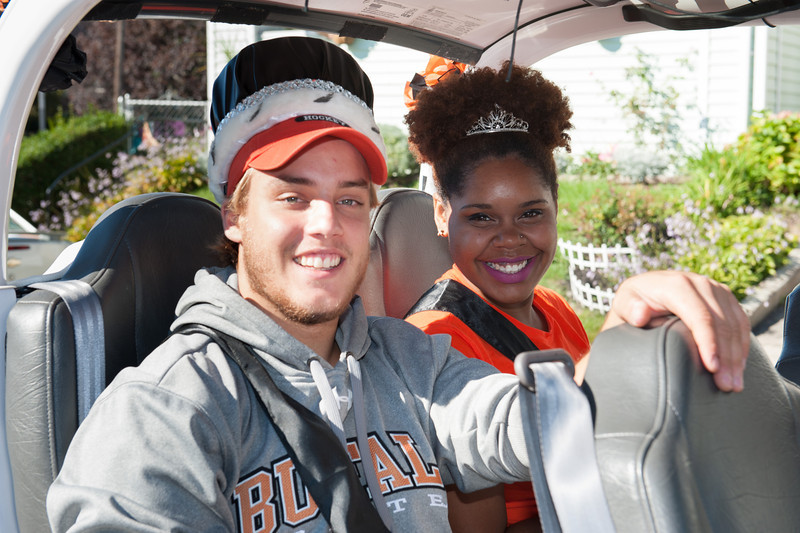 Buffalo State's Homecoming King and Queen at Homecoming festivities.