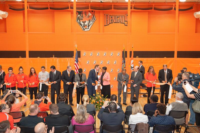 Houston Gym renovation ribbon cutting ceremony at SUNY Buffalo State.