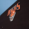 Lighted athletics sign at SUNY Buffalo State.