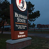 Coyer entrance lighted sign at SUNY Buffalo State.