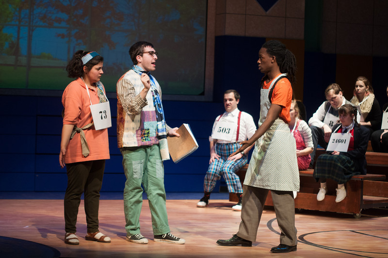 """Student theater production of """"Spelling Bee"""" at SUNY Buffalo State."""