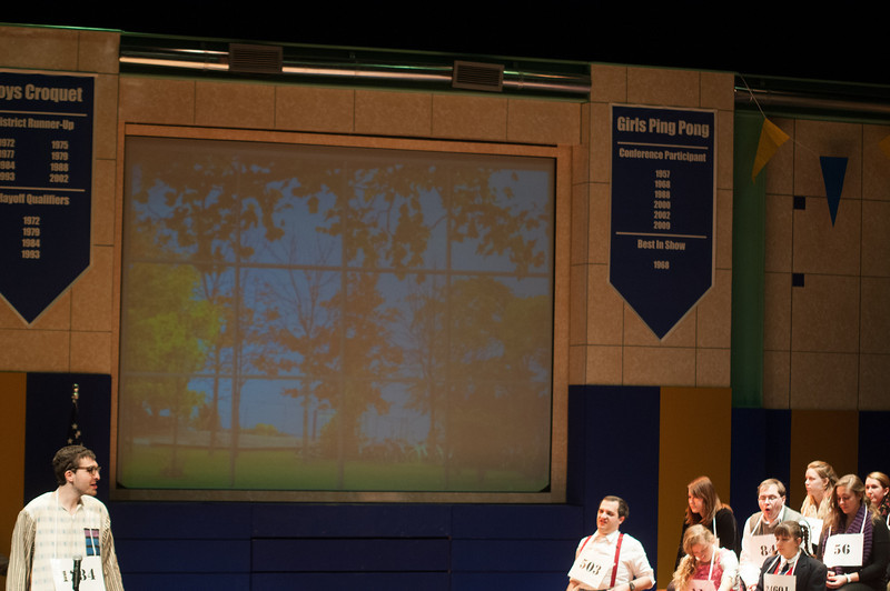 "Student theater production of ""Spelling Bee"" at SUNY Buffalo State."