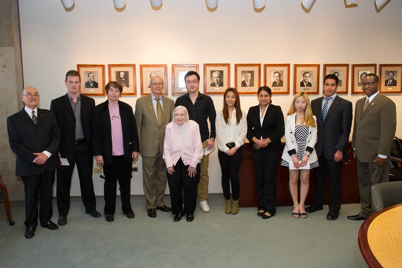 International student winners of the Francis Tyau and Eleanor Blackburn scholarships at SUNY Buffalo State.