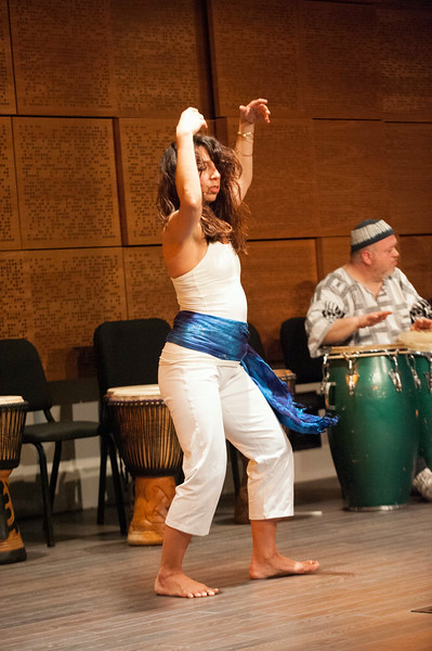 Concert featuring Diaspora Drum and Dance, West African Drumming Ensemble and Spirit Gospel Choir in the Ciminelli Recital Hall at SUNY Buffalo State.