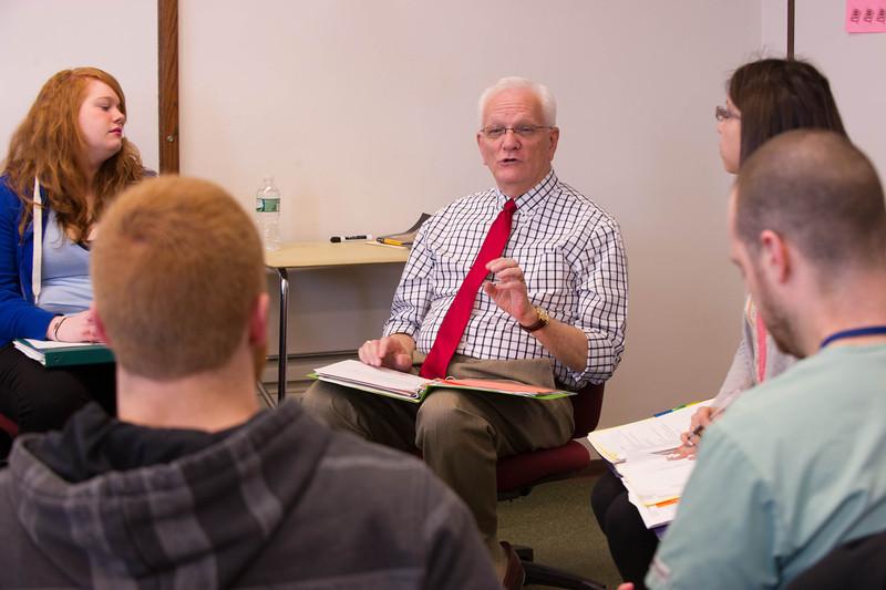 Professor Dennis Wojtaszczyk's student teaching class.