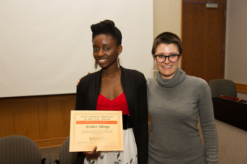 Career Development Center Student Employment Awards ceremony at SUNY Buffalo State.