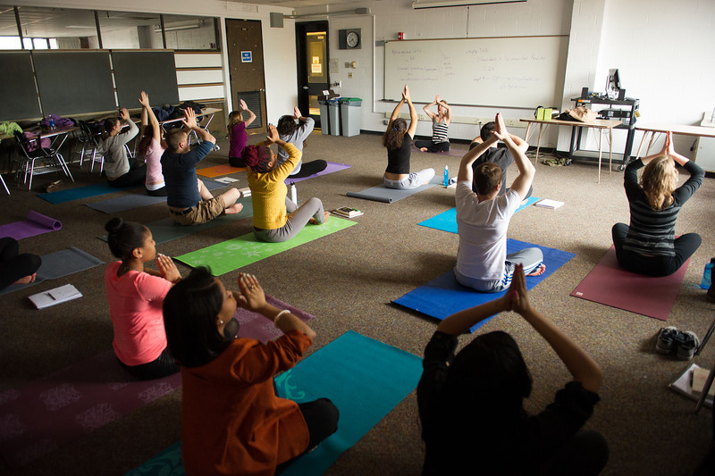 Dr. Leigh Duffy's philosophy and yoga class.