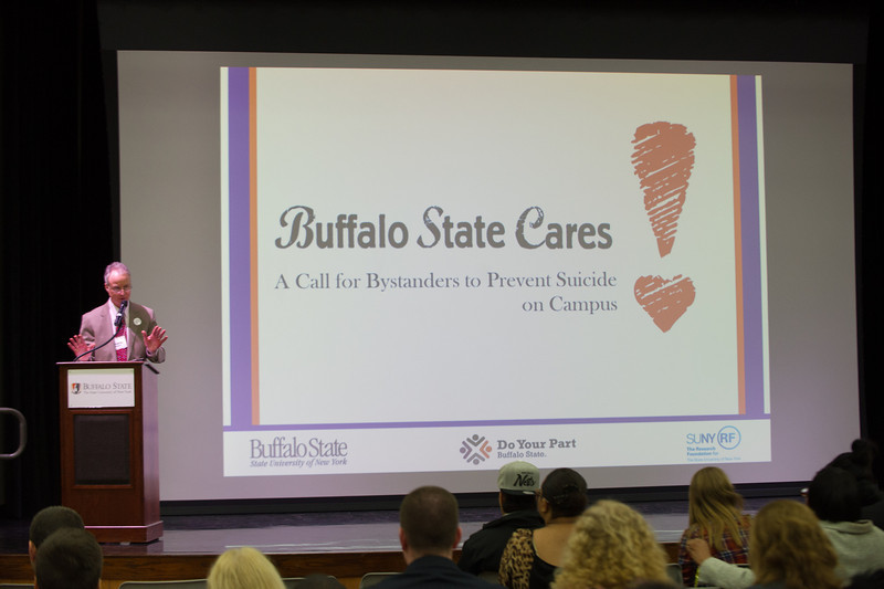 Buffalo State Cares presentations during Mental Health Awareness Week.