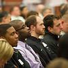 Suicide prevention speaker Jordan Burnham during Mental Health Awareness Week at SUNY Buffalo State.
