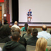 Suicide prevention speaker Jordan Burnham during Mental Health Awareness Week at SUNY Buffalo State.