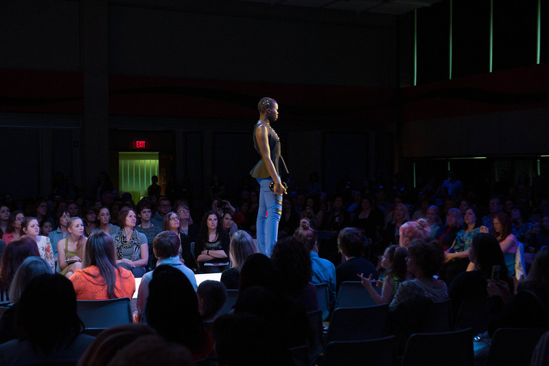 Fashion Technology Runway 7.0 student fashion show at SUNY Buffalo State.