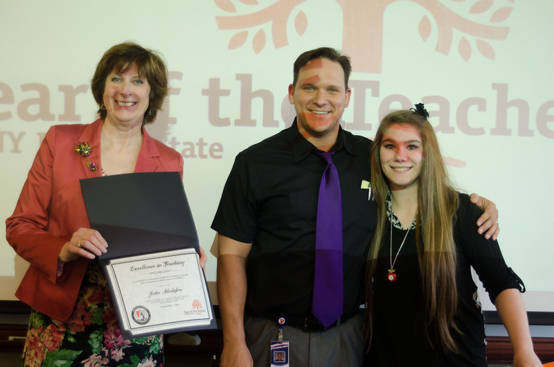 Teacher of the year awards ceremony.