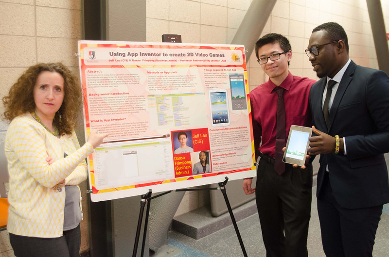 Computer Science poster showcase and award ceremony.