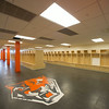 Football locker room in newly renovated Houston Gym at SUNY Buffalo State.