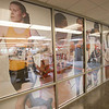 Corridor outside Student Fitness Center in newly renovated Houston Gym at SUNY Buffalo State.