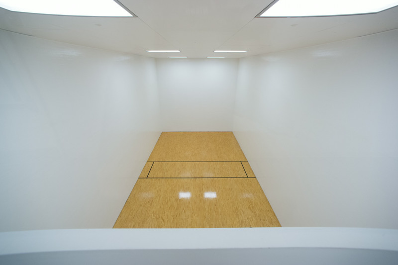 Racquetball court in newly renovated Houston Gym at SUNY Buffalo State.