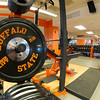 Varsity athletics weight room in newly renovated Houston Gym at SUNY Buffalo State.