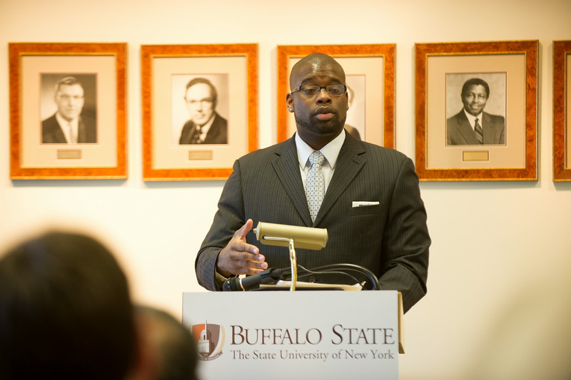 Achieving Success Through Leadership commencement ceremony at SUNY Buffalo State.