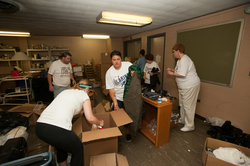 SUNY Buffalo State faculty, staff and administrators volunteering during United Way Day of Caring.