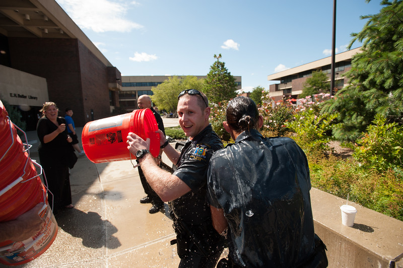 University Police ALS Ice Bucket Challenge at SUNY Buffalo State.