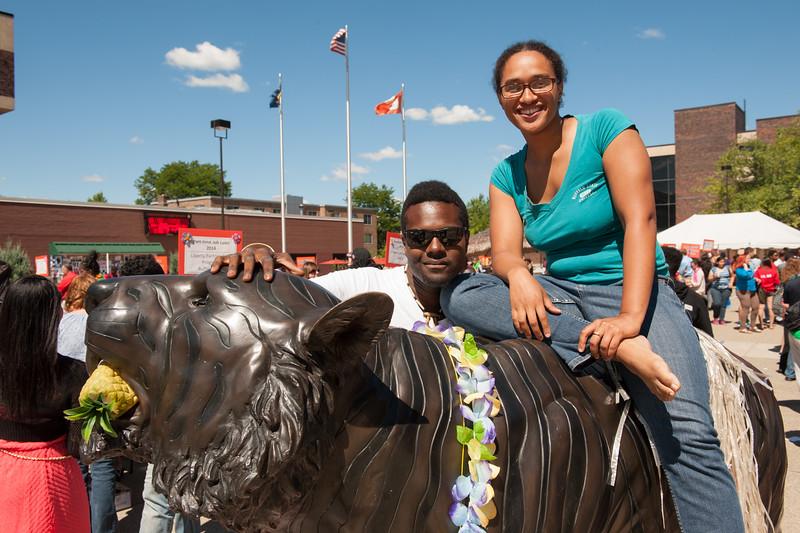 Career Development Center Part-time Job Fair Luau at SUNY Buffalo State.