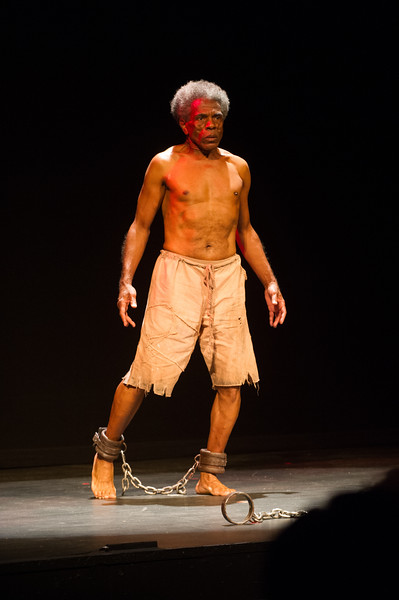 """""""Frederick Douglas: Mine Eyes Have Seen the Glory,"""" one-man show by Andre DeShields during the Anne Frank Project at SUNY Buffalo State."""